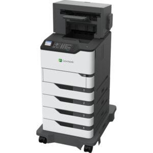 Lexmark-MS821dn-3x-550-Sheet-Tray-Stapler-Caster-Base-Left